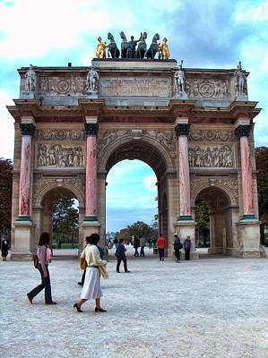 Liberte Photograph - Arc De Triomphe by Paris  France