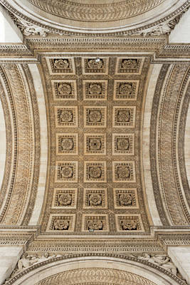 Photograph - Arc De Triumph Ceiling, Paris by Stephen Spraggon