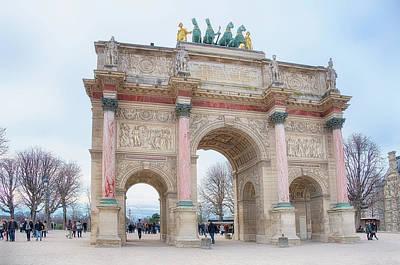Arc De Triomphe Photograph - Arc Triomphe Carrousel by Cora Niele