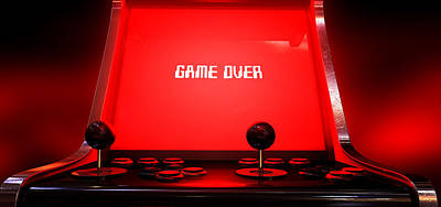 Arcade Game Game Over Print by Allan Swart