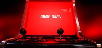 Steer Digital Art - Arcade Game Game Over by Allan Swart