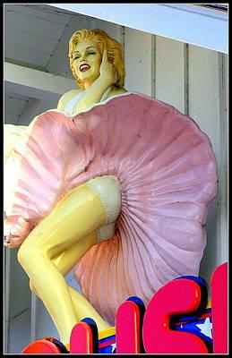 Arcade Marilyn Art Print by Kathy Barney