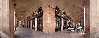 Barcelona Chair Photograph - Arcades And The Famous Restaurant 7 by Panoramic Images