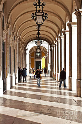 Lisbon Photograph - Arcades Of Lisbon by Jose Elias - Sofia Pereira