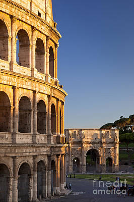 Arch And Coliseum  Art Print by Brian Jannsen