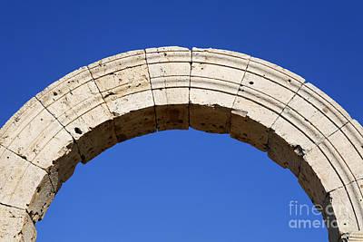 Arch At Leptis Magna In Libya Art Print