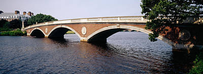 Charles River Photograph - Arch Bridge Across A River, Anderson by Panoramic Images