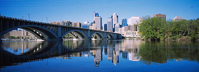 Midwest Photograph - Arch Bridge Across A River by Panoramic Images