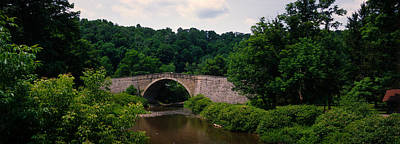 Maryland Photograph - Arch Bridge Across Casselman River by Panoramic Images