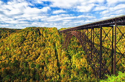 Photograph - Arch Bridge And Colorful Fall Foliage by Lori Coleman