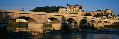 Amboise Photograph - Arch Bridge Near A Castle, Amboise by Panoramic Images