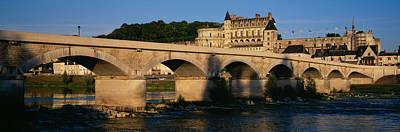 Arch Bridge Near A Castle, Amboise Art Print by Panoramic Images