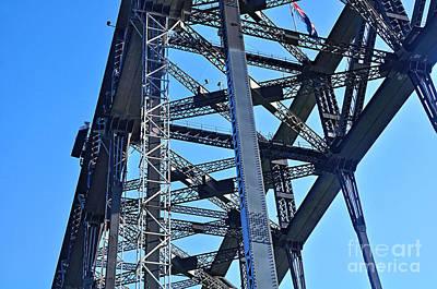 Rivets Photograph - Arch Construction - Sydney Harbour Bridge by Kaye Menner