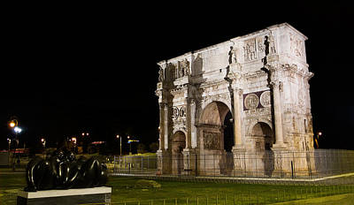 Photograph - Arch Of Constantine At Night by Weston Westmoreland