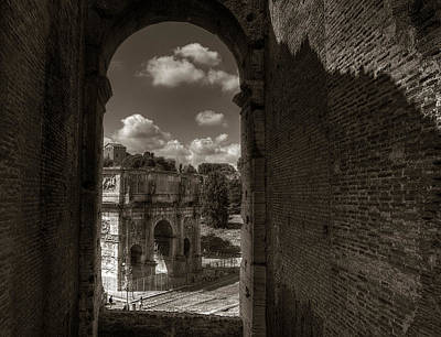 Photograph - Arch Of Constantine From The Colosseum by Michael Kirk
