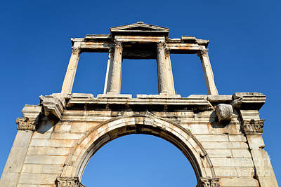 Arch Of Hadrian In Athens Art Print by George Atsametakis