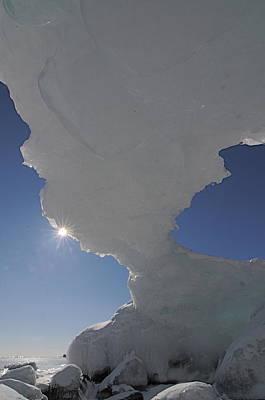 Arch Of Ice Art Print by Sandra Updyke