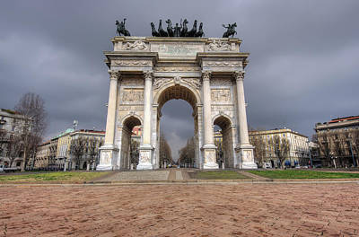 Arch Of Peace Milano Art Print by Ioan Panaite