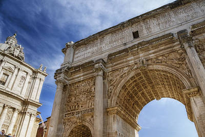 Monument Photograph - Arch Of Septimius Severus by Joan Carroll