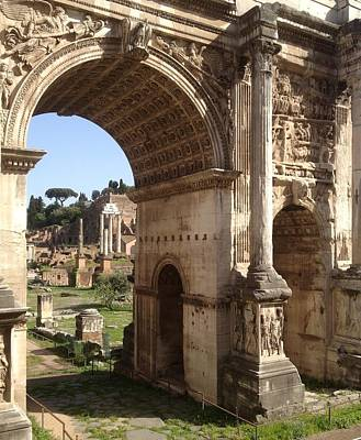 Temple Of Castor And Pollux Photograph - Arch Of Septimius Severus by Rebecca K Williams