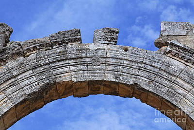 Qalat Photograph - Arch Of The Church Of St Simeon Syria by Robert Preston