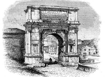 Arch Of Titus Art Print by Collection Abecasis