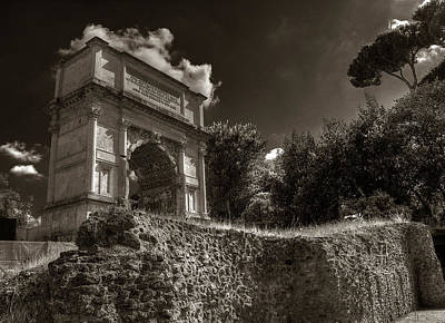 Photograph - Arch Of Titus by Michael Kirk
