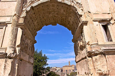 Photograph - Arch Of Titus by Walt  Baker