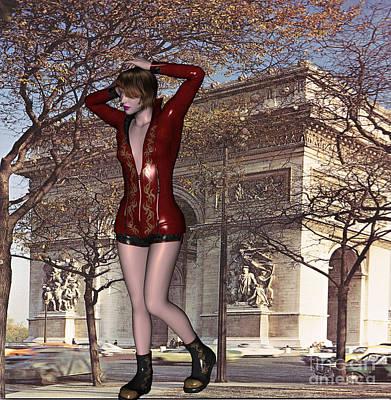 Digital Art - Arch Of Triumph Model by Stanley Morganstein