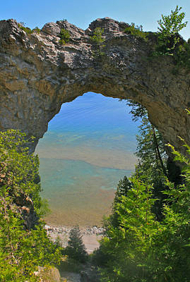 Photograph - Arch Rock On Mackinac Island by Kathleen Scanlan
