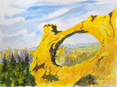Painting - Arch by Walt Brodis