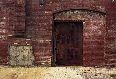 Photograph - Arch With Steel Door by Greg Kluempers