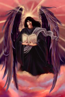 Book Of Life Digital Art - Archangel Azrael by Dawn Marshall