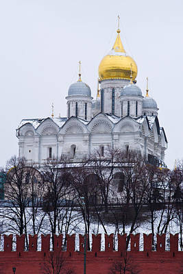 Archangel Cathedral Of Moscow Kremlin - Featured 3 Art Print by Alexander Senin