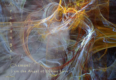 Mixed Media - Archangel Chamuel by Valerie Anne Kelly