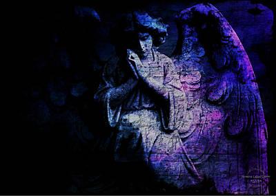 Digital Art - Archangel Gabriel by Absinthe Art By Michelle LeAnn Scott