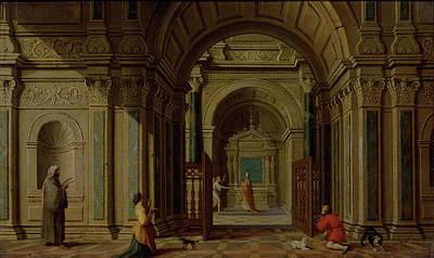 Archangel Gabriel Appears To Zachariah, Nicolaes De Giselaer Art Print