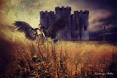 Digital Art - Archangel Gabriel  by Riana Van Staden