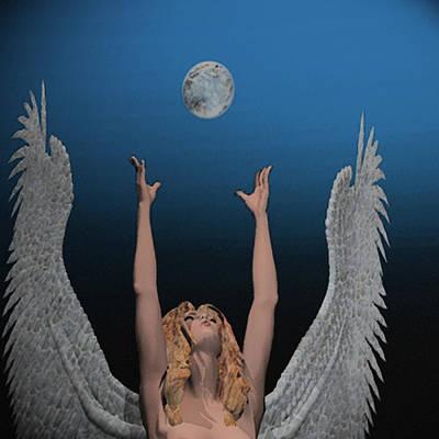 Archangel Haniel Print by Mark L Watson