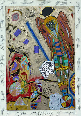 Mixed Media - Archangel Jeremiel by Clarity Artists