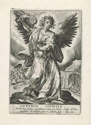 Archangel Jophiel, Crispijn Van De Passe Art Print by Crispijn Van De Passe (i)
