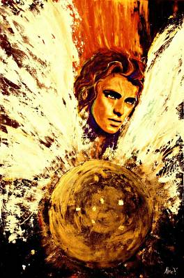 Archangel Michael Original by Alma Yamazaki