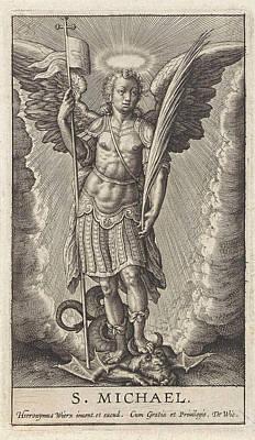 Archangel Michael, Anonymous, Hieronymus Wierix Art Print by Anonymous And Hieronymus Wierix And De Wit