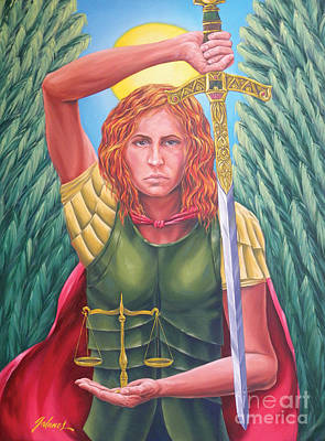 Prayer Warrior Painting - Archangel Michael by Ivonne Galanes Svard