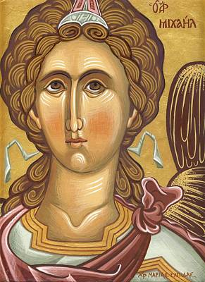 Egg Tempera Painting - Archangel Michael by Mariela Constantinidis