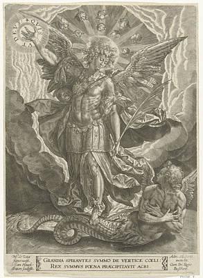 Archangel Michael Trampled Satan, Samuel Van Hoogstraten Art Print