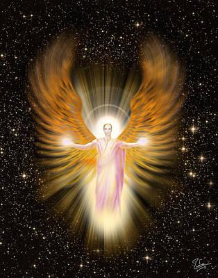 Digital Art - Archangel Raphael by Endre Balogh