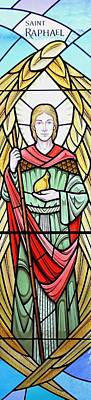 Glass Art - Archangel Raphael by Gilroy Stained Glass