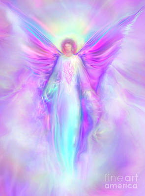 Healing Art Painting - Archangel Raphael by Glenyss Bourne