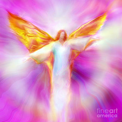 Painting - Archangel Sandalphon In Flight by Glenyss Bourne